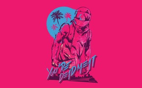 Picture The game, Background, Miami, Biker, Hotline Miami, Synthpop, Biker, Darkwave, Synth, Retrowave, Synthwave, Hotline