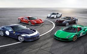 Picture ferrari, cars, ferrari california, the ferrari f12 berlinetta, ferrari 488