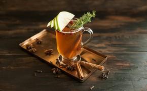 Picture tea, Apple, drink, cinnamon, carnation