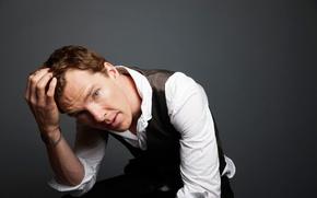 Wallpaper face, shirt, male, Benedict Cumberbatch, Benedict Cumberbatch, look