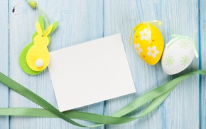 Picture Easter, yellow, wood, spring, Easter, eggs, decoration, Happy, tender