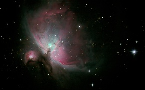 Picture M42, is, Orion, The Orion Nebula, below, Belt