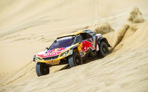 Picture Sand, Auto, Sport, Machine, Race, Peugeot, Red Bull, 300, Rally, Dakar, Dakar, SUV, Rally, Sport, …