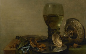 Picture oil, picture, Willem Claesz Heda, Still life with Cup
