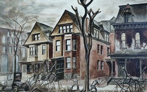 Wallpaper Civic Improvement, 1927-28, Charles Ephraim Burchfield