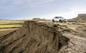 Picture white, rock, open, vegetation, mountain, Mercedes-Benz, pickup, 2017, X-Class