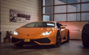 Picture Lamborghini, Orange, LP 610-4, Hurricane