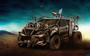 Picture Spears, Yasid Oozeear, Nissan Qashqai, Nissan, Rendering, Harpoon, Mad MaX, Auto, Qashqai, Art, Machine, Figure, ...