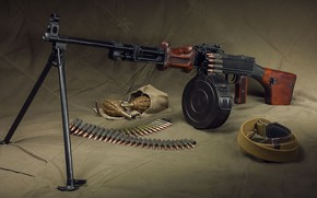 Wallpaper Machine gun, RDP 44, Tape