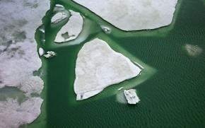 Picture ice, winter, lake, Switzerland, Grimsel