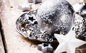 Picture decoration, New Year, Christmas, gifts, silver, happy, Christmas, wood, New Year, Merry Christmas, Xmas, gift, …