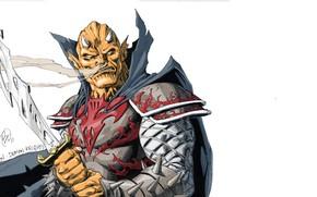 Picture the demon, DC Comics, antihero, Etrigan, Etrigan, Jason Blood