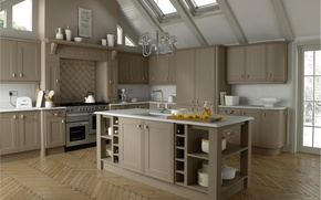Picture style, Villa, interior, kitchen