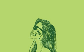 Picture sake, woman, silhouette, Glasses