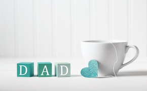 Picture Cup, happy, heart, text, holiday, coffe, father's day, Melpomene