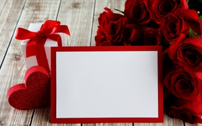 Wallpaper red roses, heart, love, valentine`s day, roses, romantic, gift, red