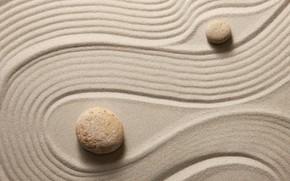 Picture sand, stones, stone, sand, zen