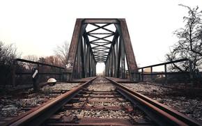 Picture bridge, background, railroad