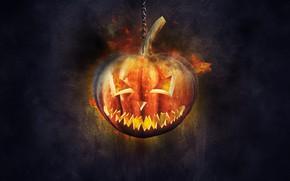 Picture chain, pumpkin, Halloween