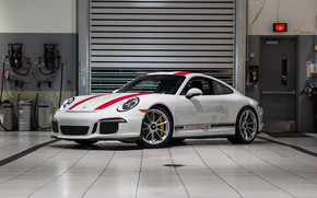 Picture Porsche, Red, 911R, Bands
