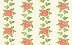 Picture flowers, Wallpaper, pattern, vector, texture