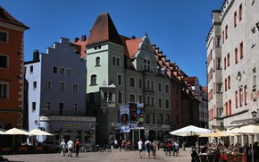 Picture The city, Germany, Street, Building, Germany, Street, Regensburg, Town, Regensburg