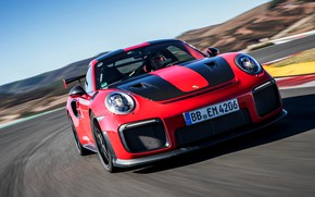 Picture asphalt, movement, track, Porsche, red-black, 911 GT2 RS