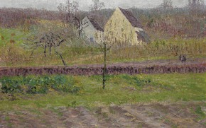 Picture landscape, picture, Gustave Loiseau, Gustave Loiseau, Garden In Autumn
