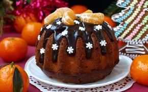 Picture chocolate, cupcake, tangerines