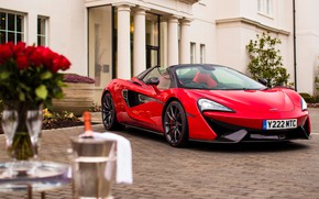 Picture red, McLaren, supercar, 2018, 570S