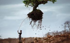 Picture roots, tree, male, Vincent Bourilhon