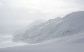 Picture Winter, Mountains, Fog, Snow, Switzerland, Frost, Winter, Frost, Snow, Mountains, Fog, Jungfrau, The Bernese Alps