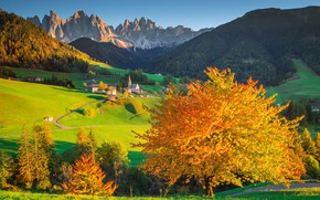 Picture valley, Alps, Italy, town