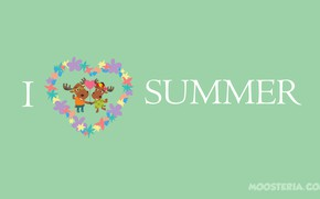 Picture summer, love, happy, holidays, funny, happiness, moose, summertime, moosteria