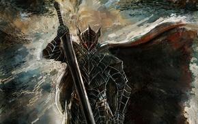 Wallpaper game, anime, powerful, Berserk, sword, ken, Berserk Armor, monster, armor, man, bakemono, blade, Guts, manga, ...