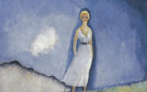 Picture oil, canvas, Kees van Dongen, Strolling, Guéthary