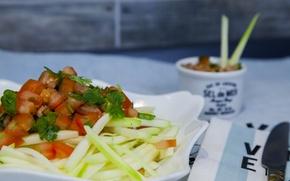 Picture Food, Salad, Salad, Raw zucchini pasta