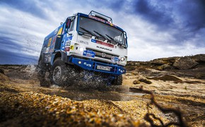 Picture The sky, Sport, Speed, Truck, Race, Master, Squirt, Russia, Beast, Kamaz, Rally, Rally, KAMAZ, The …