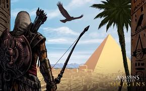 Picture desert, pyramid, Egypt, assassin, Assassin's Creed: Origins