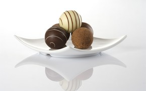 Picture plate, chocolate, dessert, candy, candy.chocolate