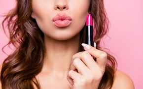 Picture lips, nails, makeup, lipstick
