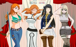 Picture girls, anime, art, different, cosplay