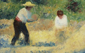 Picture picture, genre, Georges Seurat, Carrying Stones, Georges Seurat