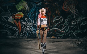 Picture style, background, Asian, baseball bat
