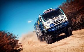 Picture Dust, Sport, Speed, Truck, Race, Master, Russia, Kamaz, Rally, Dakar, KAMAZ-master, Dakar, Rally, KAMAZ, The ...