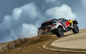 Picture Sand, Auto, Sport, Machine, Speed, Traces, Race, Peugeot, Lights, Red Bull, Rally, Dakar, Dakar, SUV, …