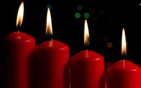 Picture fire, red, romance, candles