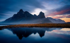 Picture Sunset, Iceland, Eystrahorn
