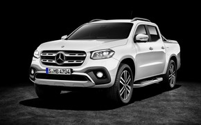 Wallpaper white, dark, background, 2017, Mercedes-Benz, X-Class, pickup