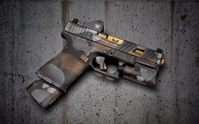 Wallpaper gun, background, Glock